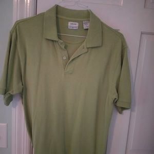 Green Izod shirt